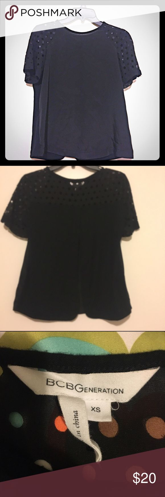 BCBGENERATION top. Black blouse top. Size XS. Excellent condition. No damage or stain. BCBGeneration Tops Blouses