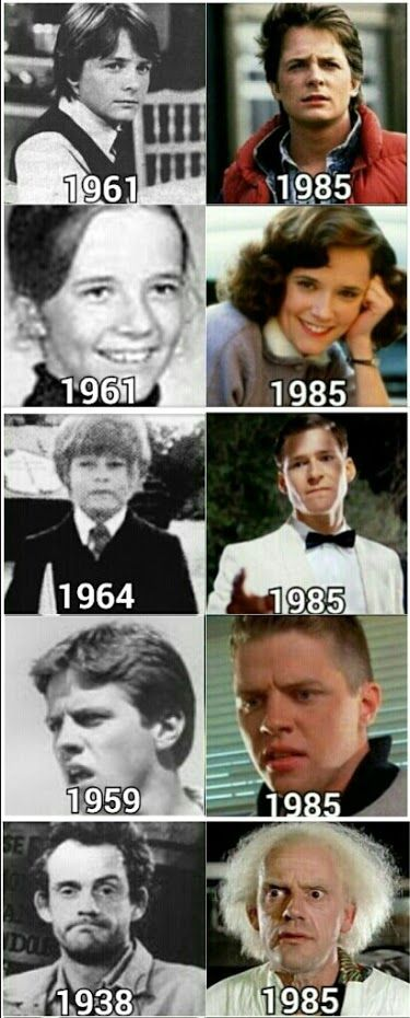 The cast in their younger years.