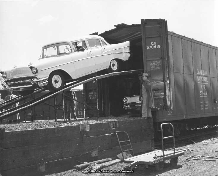 """Unloading """"new"""" cars in Moncton"""