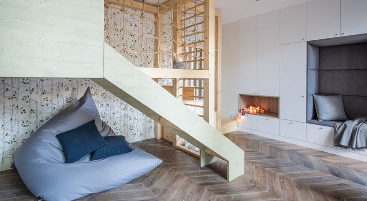 #pokój  #rekreacyjny #dladzieci #dom  #dobrzezaprojektowany #kids #kidsroom #childrenroom #leders #drabinka #małpigaj #tryc #JacekTryc #podłoga #furniture #warszawa #Bielany