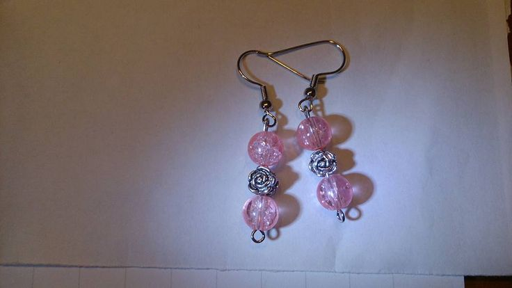 Pink rosy earrings