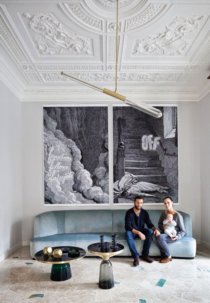 Living (Adri and Silvia's apartment in Milan) by Pietro Russo, ph. Filippo Bamberghi (The Chamber of Curiosity, copyright Gestalten 2014)
