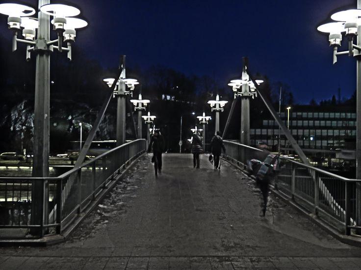 Aura river by night in Turku