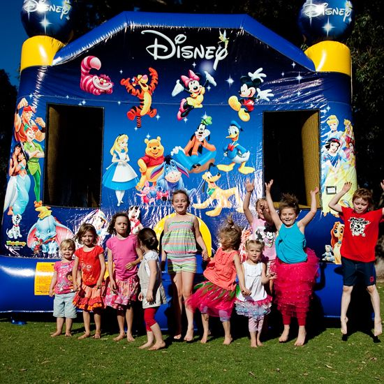 World of Disney Bouncy Castle  #bouncy #castles #inflatables #play #kids