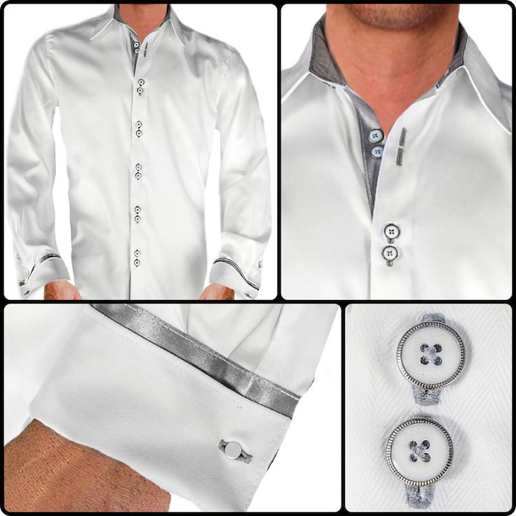 Mens Designer Dress Shirt Made in the USA. Style: Envy ...