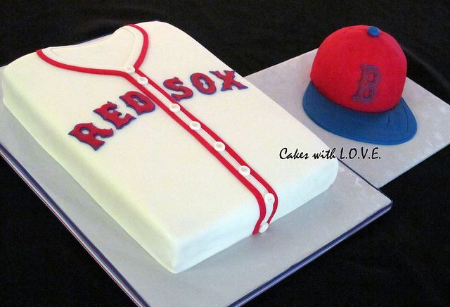 Boston Red Sox by Cakes with L.O.V.E., via Flickr