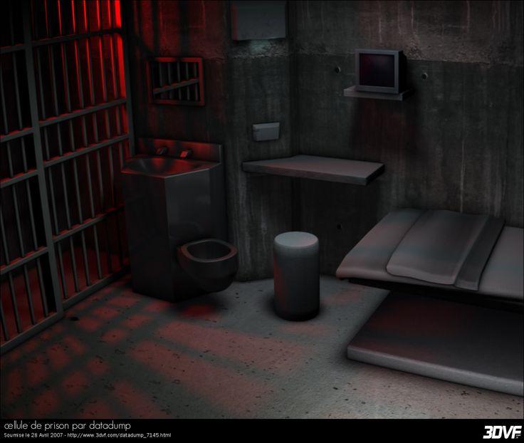 Galerie 3DVF.com : cellule de prison par datadump