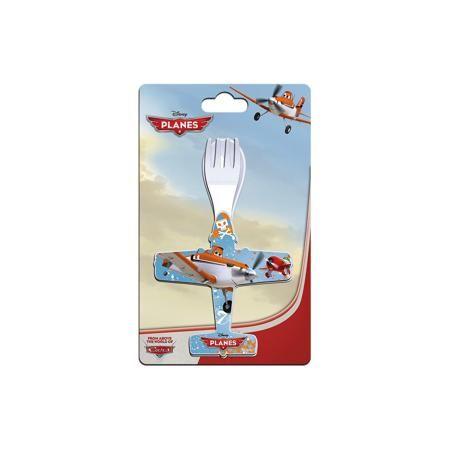 Новый Диск Набор ложка + вилка, в форме самолета, Самолеты  — 99р.  Детские столовые приборы (ложка + вилка) в форме самолета. Подарите своему ребенку праздник каждый день! Купите ему посуду с изображениями героев любимых мультфильмов, и каждый прием пищи станет для него радостью! Столовые приборы изготовлены из термостойкого пищевого пластика.  Дополнительная информация:   - вес: 50 гр. - материал: пищевой пластик - размер: 2 * 23 * 13 см.  - возрастная группа: от 3 лет  Набор ложка…