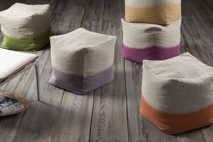 100% linen poufs from Surya.com