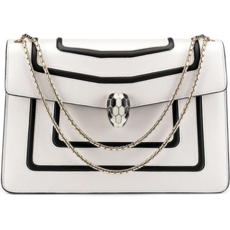 Rosie Huntington-Whiteley wearing Bvlgari Serpenti Forever Flap Cover Bag