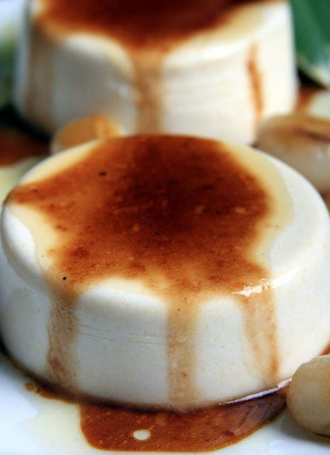 Vegan Panna Cotta with Brown-Sugar Sauce. Guys, are you seeing this?!