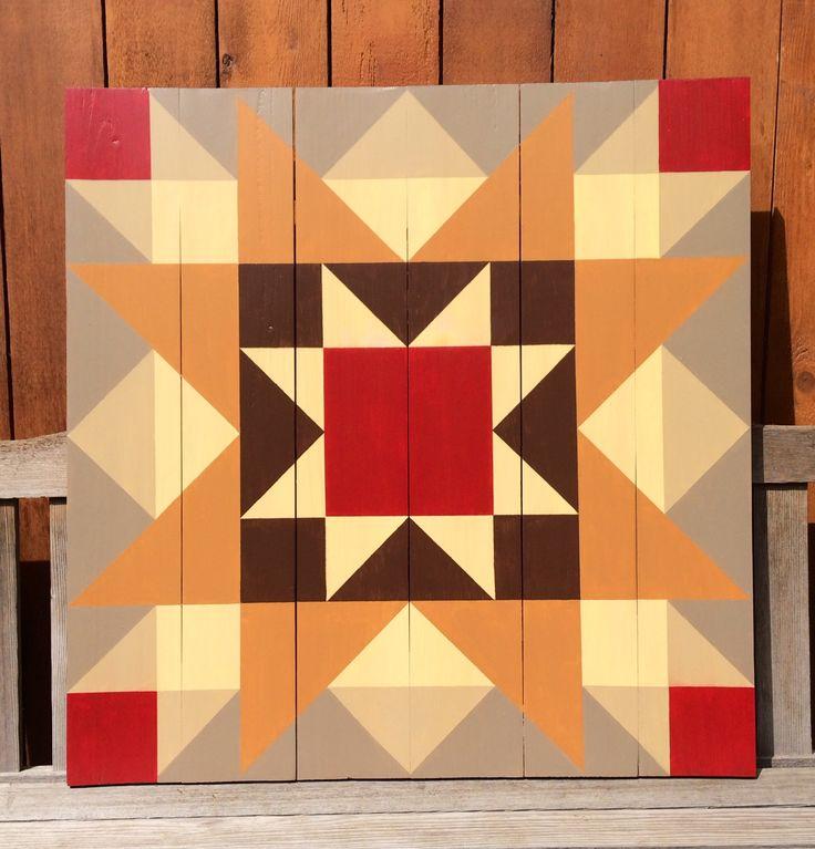 Barn quilt star pattern