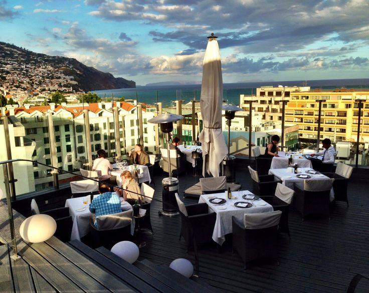 Uva restaurant terrace at sunset
