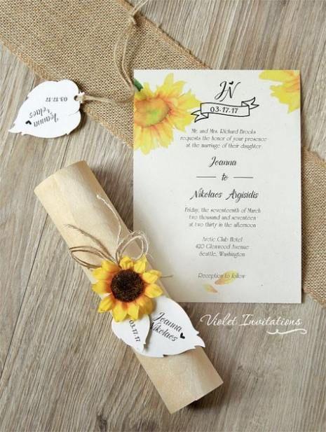 45+ Ideas for wedding invitations diy sunflower woods #wedding #weddingideas #weddingdiy #weddingsunflower #weddinginvitations