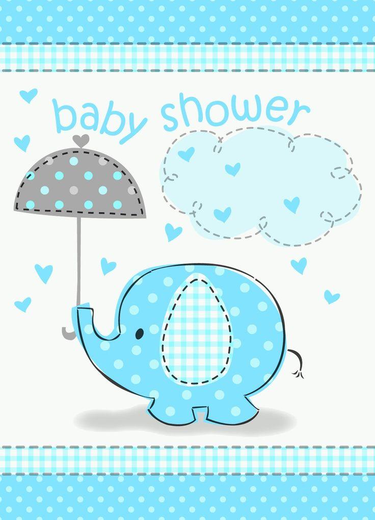 Mantel plástico Elefante Baby Shower azul