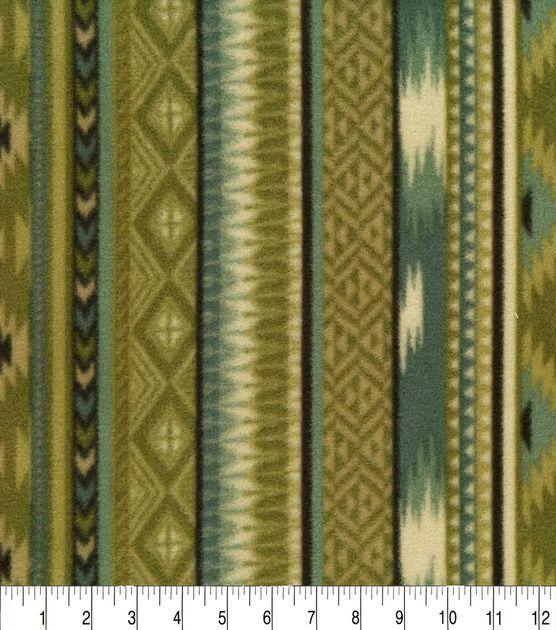 Anti-Pill Fleece Fabric-Into The Wild Aztec Stripe