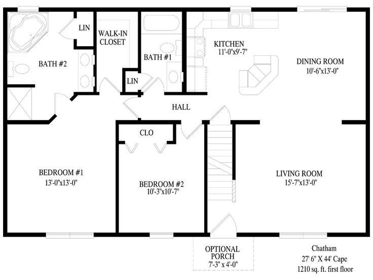 81 Best Modular Homes Images On Pinterest  House Floor Plans Mesmerizing Standard Dining Room Size Decorating Inspiration