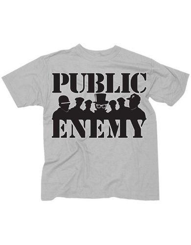 Public Enemy Group Siloutte Mens T-Shirt