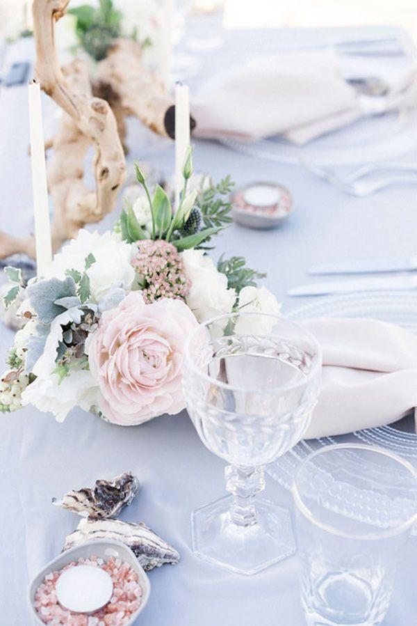 Pastel Beach Wedding Tablescape