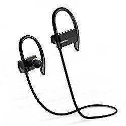 Mpow Bluetooth4.1イヤホン HD高音質 ハンズフリー通話 省電力 防汗防滴軽量 はずれ防止 フック付け スポーツ ワイヤレス イヤホン iPhone&Android 対応 (ブラック)【技適認証済み】【18ケ月の保証】 MP-BH042AB おすすめ度*1 ASIN B01M4FI4B6 イヤーフックが耳に安定させ、イヤーピースは耳にしっかりと差し込まれる。遮音性は普通。音漏れはやや目立つ。 aptXには対応しないが、通信遅延はほぼない。途絶もなく、通信的には安定しており、動画鑑賞も問題ないようだ。 【1】外観・インターフェース・付属品 付属品はイヤーピースの替え、充電用USB…