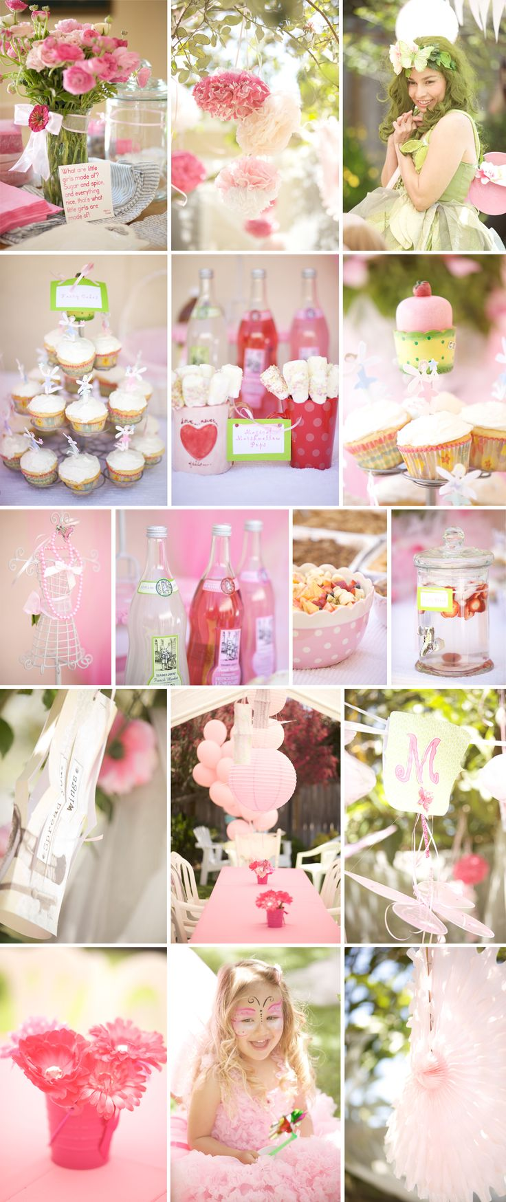 Pink and Green Fairy Party. Little Girl Birthday Party Photography by Kellianne Jordan Photography.
