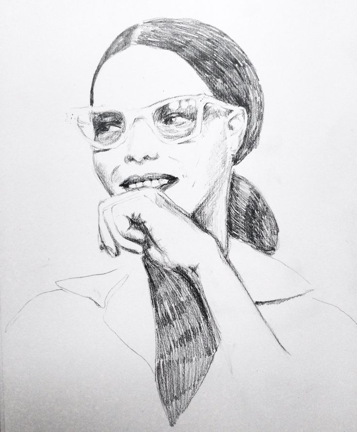 Girl with glasses  Pencildrawing  Ingjerd Tufto Instagram @intu