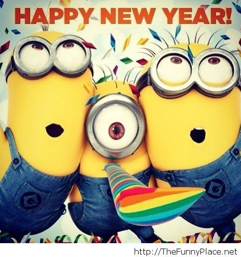 Happy new year 2014 minions