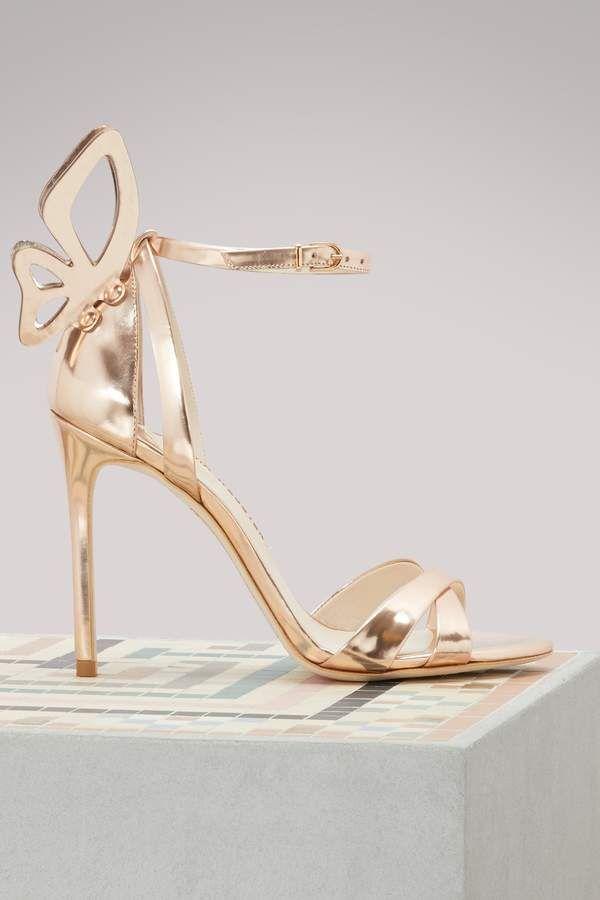 42e52e72e46 Sophia Webster Madame Chiara heeled sandals - rose gold heels ...