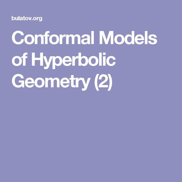 Conformal Models of Hyperbolic Geometry (2)