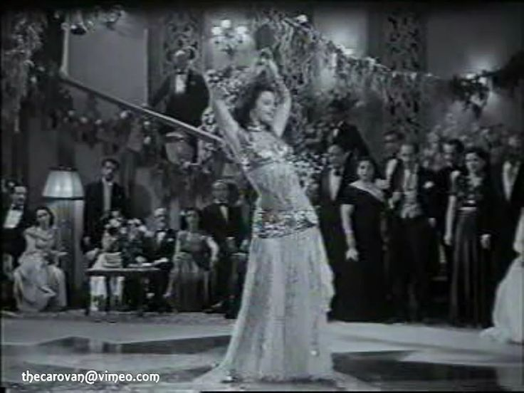This is dancer/actress Katy  (كيتي aka Keti, Katie etc) performing in a scene from the 1951 Egyptian musical 'Leilet al Henna' (ليلة الحنة  Henna Night…