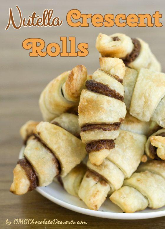 Nutella Crescent Rolls   OMG Chocolate Desserts