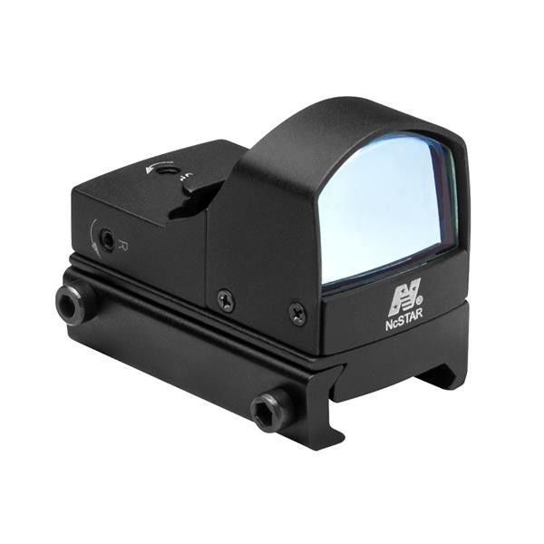 NcStar Compact Tactical Blue Dot Reflex Sight/Weaver Base/Black - Micro blue reflex sight. On/Off switch helps conserve battery while platinum lens prevents glare. Features:LED (Light Emitting Diode) 100% safe for the eyesUnlimited eye relief and field of viewStandard On/Off switchMAGNIFICATION:1X OBJECTIVE DIA(MM): 1X25Includes extra battery, lens cover, mounting toolColor: BLACKBattery Required: YESBattery Included: YES Type: Lithium Primary CR2032 QTY: 1. Outdoors > Optics > Riflescopes…