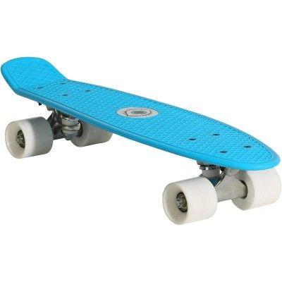 Roll_Eissport_Rollsport Skate- und Eissport  - Skateboard Kunststoff blau OXELO - Skateboard, Longboard