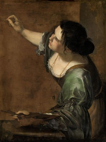 Artemisia Gentileschi.  Self-Portrait as the Allegory of Painting.  1639.  Baroque.