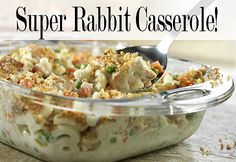 Remember those yummy, creamy, casseroles that mom used to throw together? This rabbit casserole recipe is going to take you back to the kitchen table.