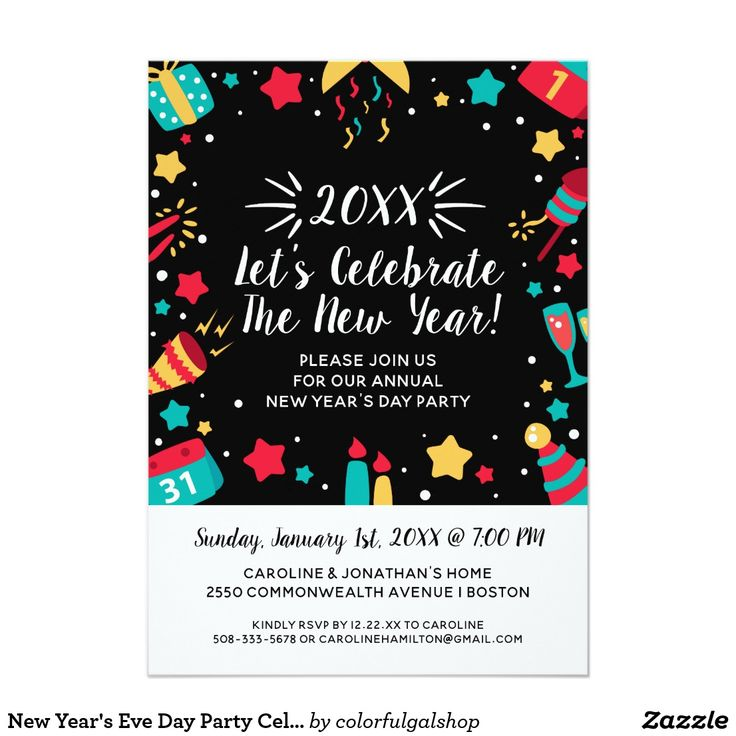 53 best New Years Eve Party Invitations images on Pinterest | New ...