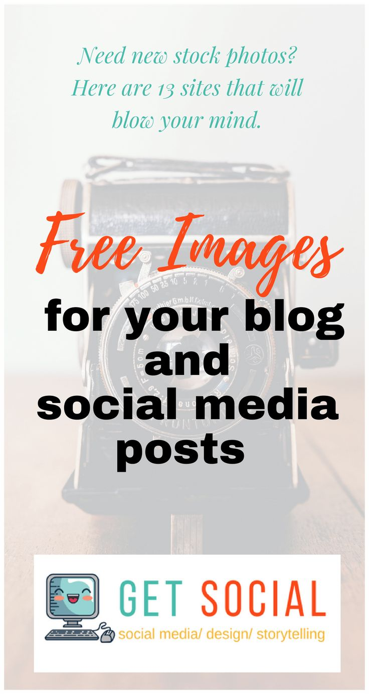 Need New Stock Photos? Here Are 13 Sites That Will Blow Your Mind. In this post, I am sharing thirteen stock photo sites that you can download and use their images totally free. (www.getsocial.tech)