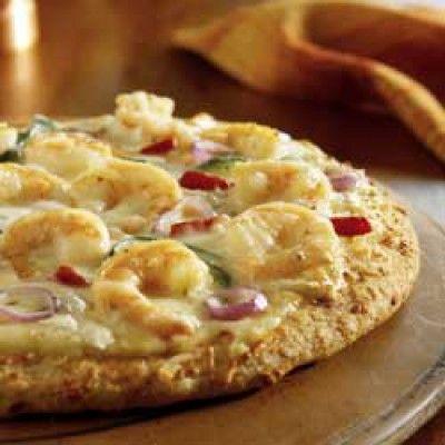 Pizza met scampi's, boursin en venkel - De kookbijbel !