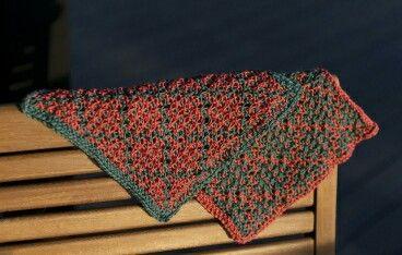 Washcloths in mosaic knitting https://purepurly.com