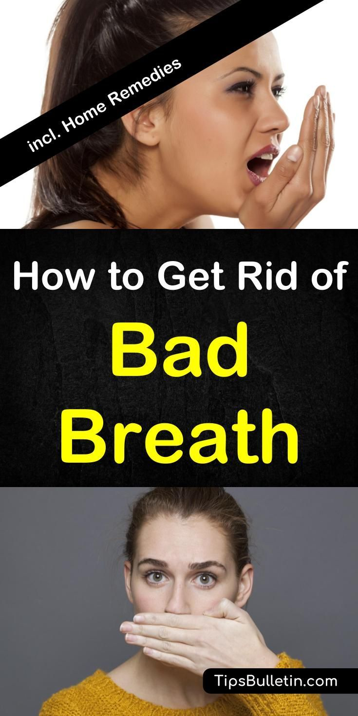 How to get rid of bad breath with 7 home remedies. Detailed article with information on what causes bad breath - Halitosis. Including remedy tips from essential oils, baking soda, cinnamon water and apple cider vinegar.