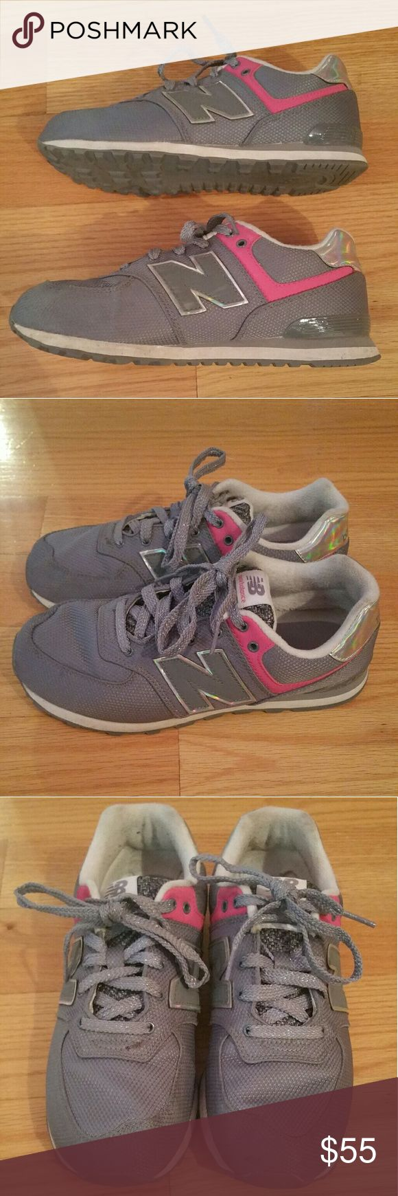 🔥FINAL PRICE🔥Kids New Balance Sneakers Grey and Pink  New Balance Sneakers Kids size 4 Worn a few times In Good Condition New Balance Shoes Sneakers