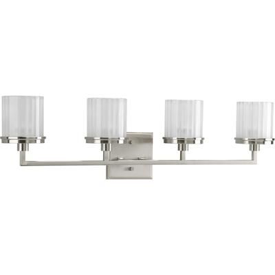 Progress Lighting - Encore Collection Brushed Nickel 4-light Vanity Fixture - 785247163700 - Home Depot Canada