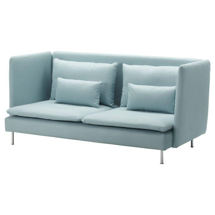 SÖDERHAMN 3er-Sofa, hohe Rückenlehne - Isefall helltürkis - IKEA