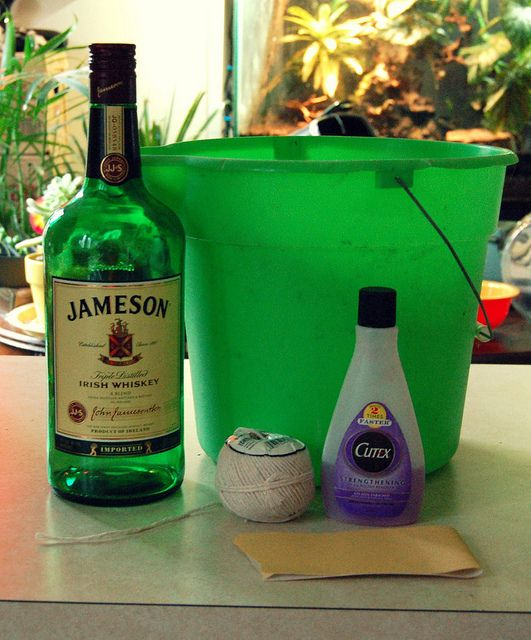 Diy how to cut bottles into glasses using twine nail for How to cut a bottle with fire