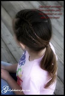 One-sided braids -- very cute!