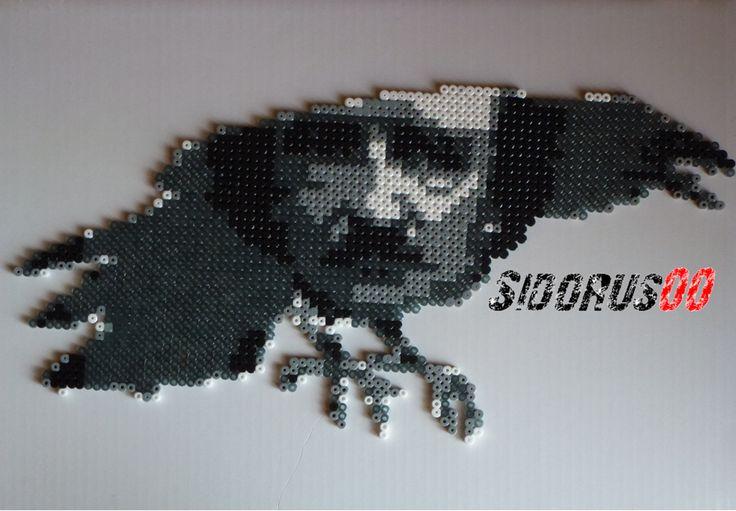 The crow Edgar Poe Perler beads hama by Sidorus00 H= 41 cm L= 21 cm
