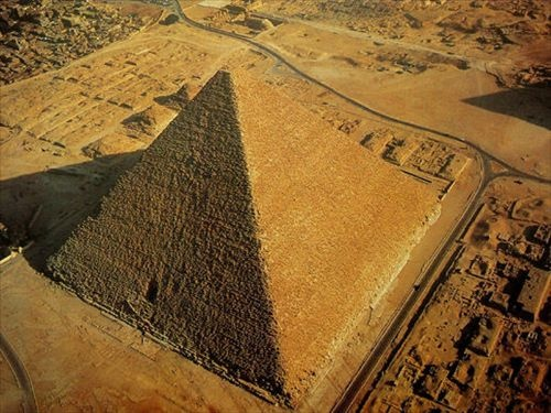 "Pyramid of Khufu -- Across Egypt, there are 80 pyramids of various sizes. But it's the greatest of the pyramids, and the mightiest of the Great Pyramids, the ""Pyramid of Khufu"", which ranks among the Seven Wonders"
