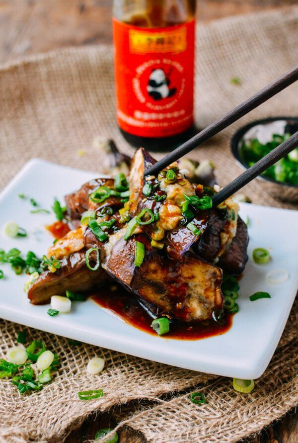 Chinese stuffed eggplant is a popular dim sum dish that also makes a great lunch or dinner meal This recipe uses less oil and is delicious and healthy!