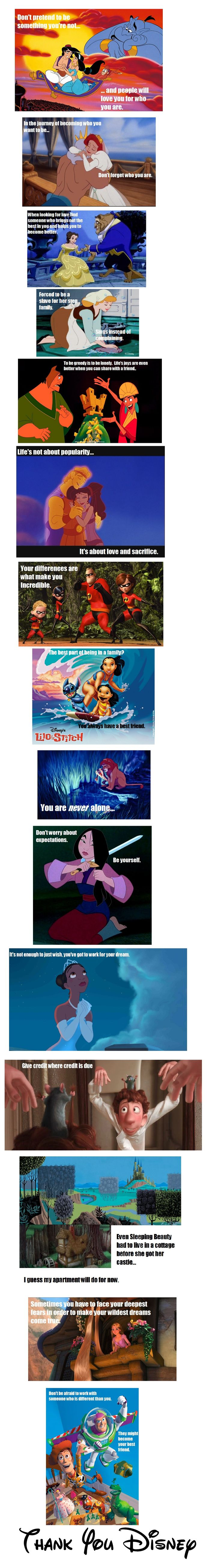 Life Lessons from Disney. Work out your problems, dont give up when you face hard times!