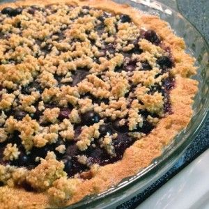 Amazing Low Carb Blueberry Pie! The crust uses almond flour, coconut oil and stevia rather than lots of white flour and sugar in traditional pie crusts. You will LOVE it! | Healthy Blueberry Pie - http://beyondfitphysiques.com/recipe-healthy-blueberry-pie/